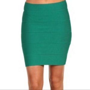 BCBG Simone Green Bandage Skirt